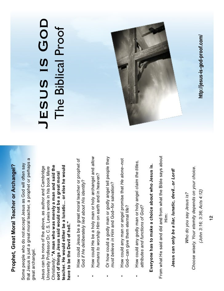 Jesus is God (English-as booklet)
