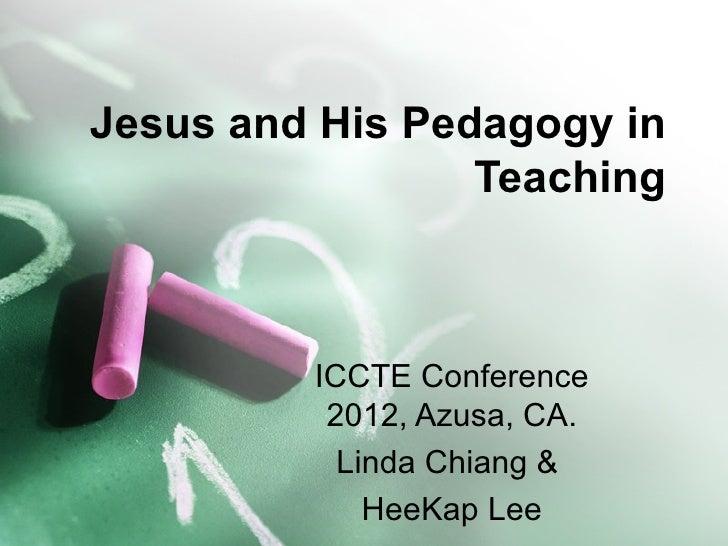 Jesus pedagogy model