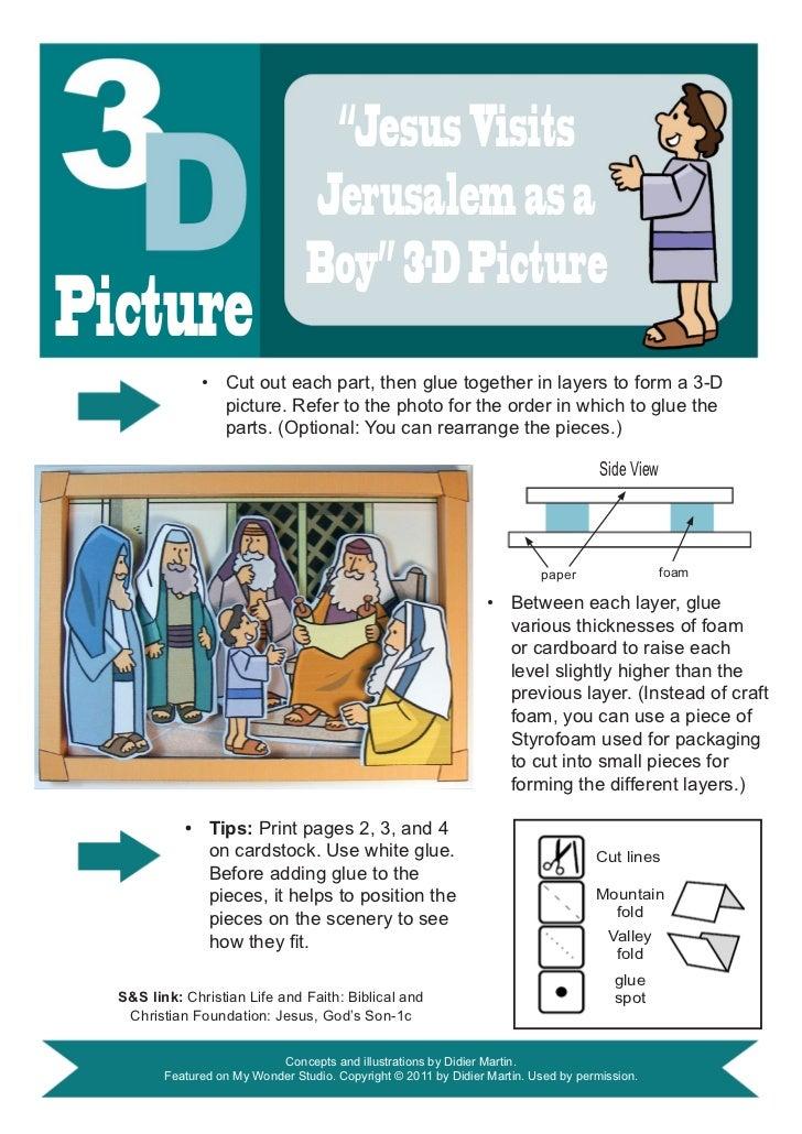 """""""Jesus Visits                                  Jerusalem as a                                  Boy"""" 3-D PicturePicture    ..."""