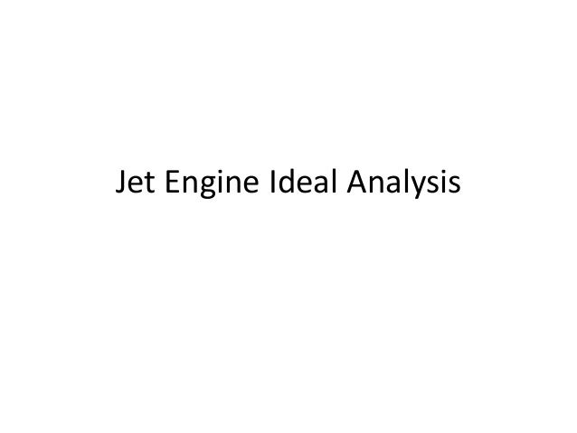 Jet engine ideal analysis