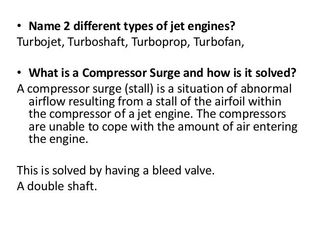 Turboprop Jet Difference Name 2 Different Types of Jet