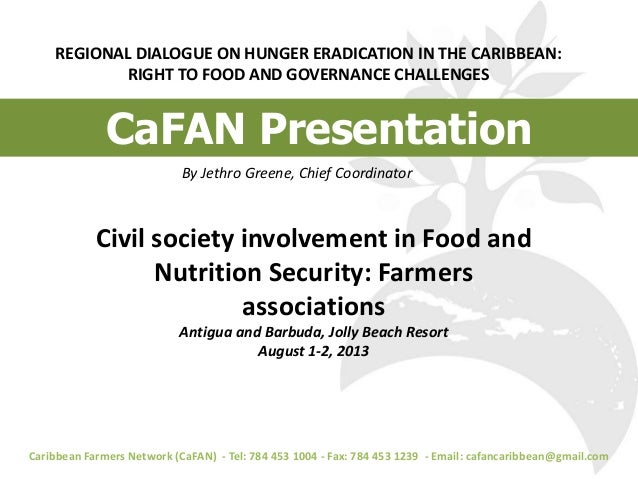 Civil Society Involvement in Food and Nutrition Security: Farmers Associations
