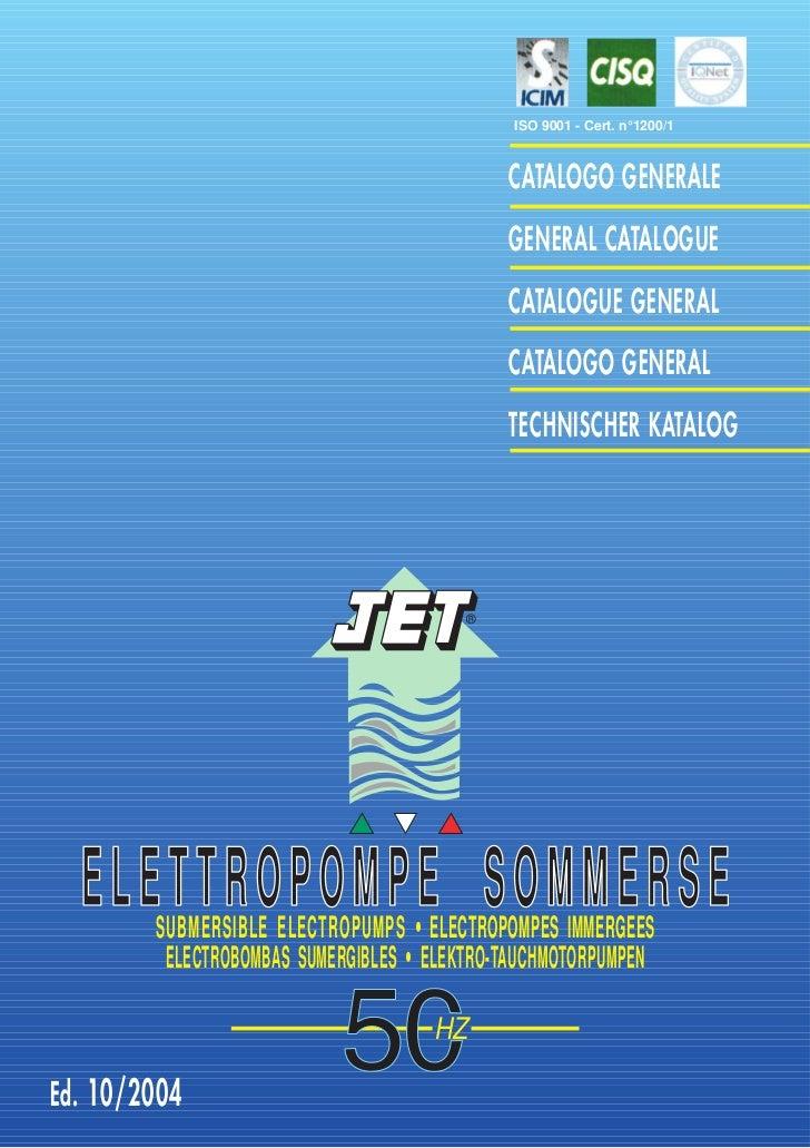 ISO 9001 - Cert. n°1200/1                                             CATALOGO GENERALE                                   ...