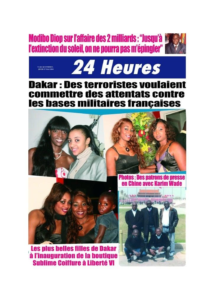 Votre Edition du 27 Mai 2010 ( 24H Chrono )