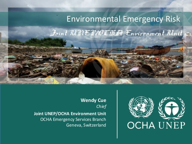 Environmental Emergency Risk  Joint UNEP/OCHA Environment Unit  joint  Wendy Cue  Chief  Joint UNEP/OCHA Environment Unit ...