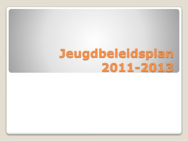 Jeugdbeleidsplan 2011-2013