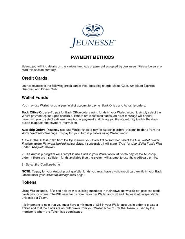 Jeunesse paymentmethodsfinal