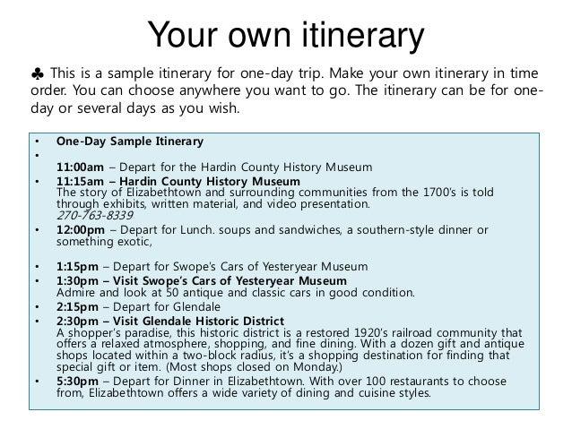 Itinerary Email Sample Printable Editable Blank – Itinerary Sample