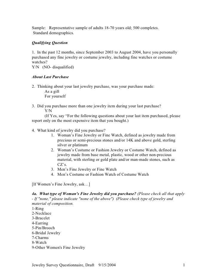 Jewelry2004surveyquestionnairedraft (1)