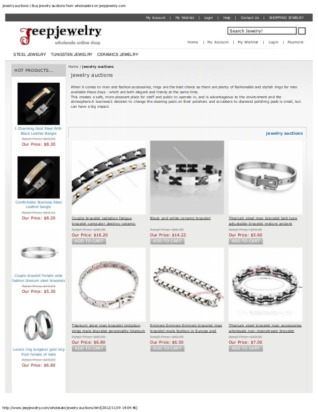 jewelry auctions | Buy jewelry auctions from wholesalers on jeepjewelry.com                                               ...