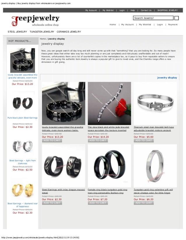 jewelry display | Buy jewelry display from wholesalers on jeepjewelry.com                                                 ...
