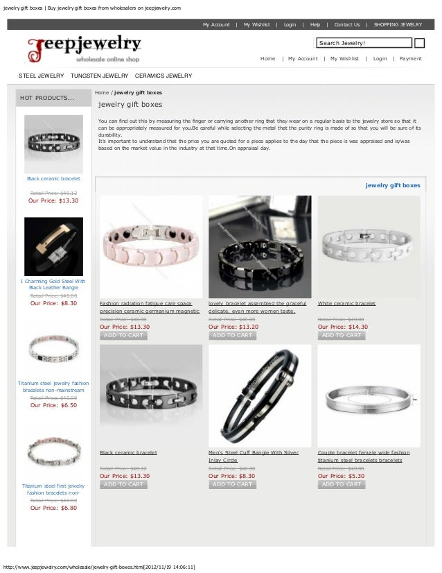 jewelry gift boxes | Buy jewelry gift boxes from wholesalers on jeepjewelry.com                                           ...