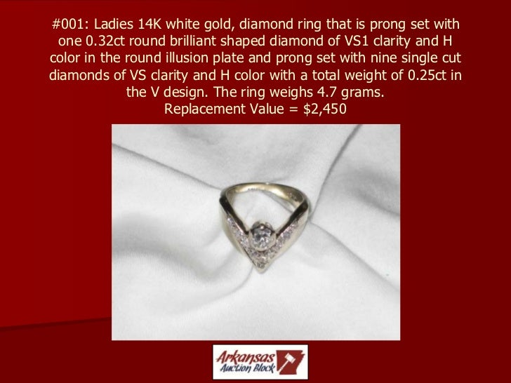 #001: Ladies 14K white gold, diamond ring that is prong set with one 0.32ct round brilliant shaped diamond of VS1 clarity ...