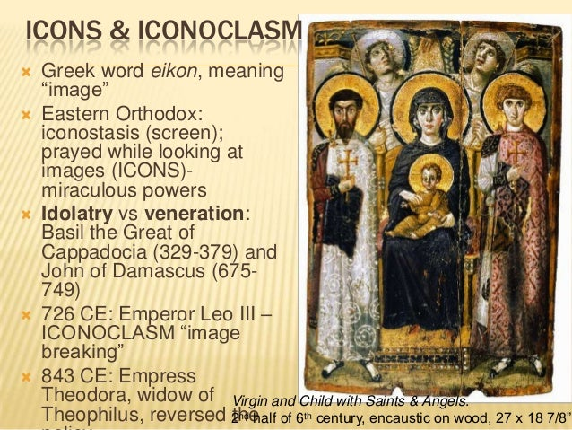 iconoclastic controversy Iconoclasm (īkŏn`ōklăzəm) [gr,=image breaking], opposition to the religious use of images veneration of pictures and statues symbolizing sacred figures, christian doctrine,.