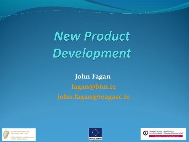 BIM Presentation J Fagan Food Product Development