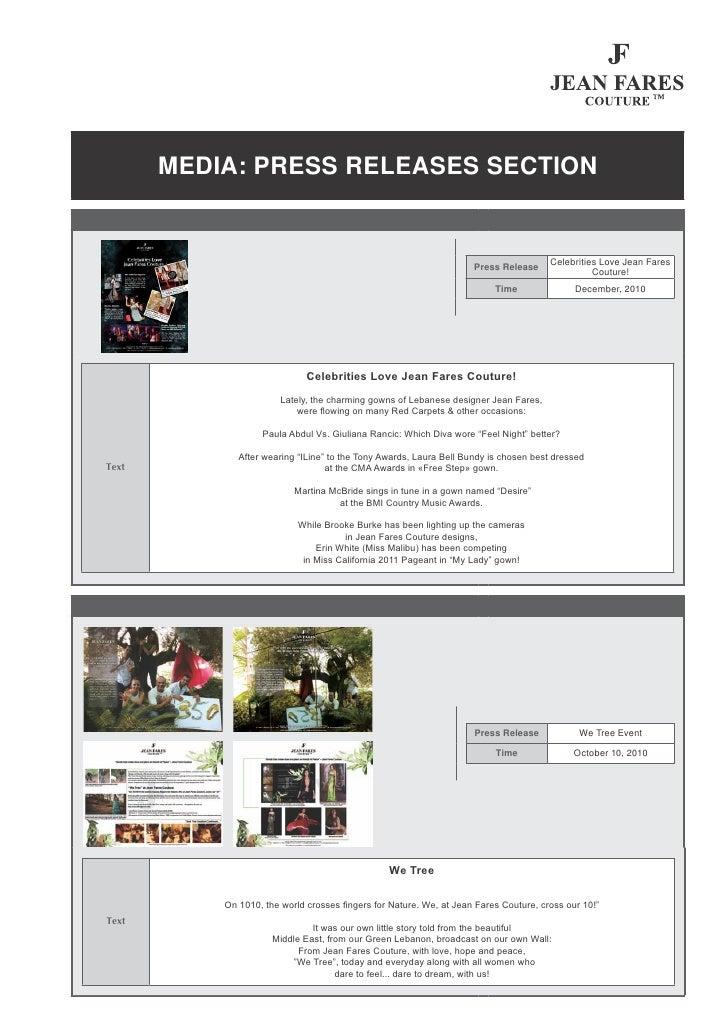 MEDIA: PRESS RELEASES SECTION                                                                                       Celebr...