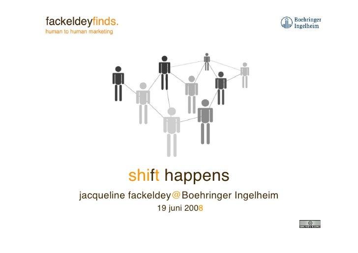 shift happens jacqueline fackeldey@Boehringer Ingelheim                19 juni 2008