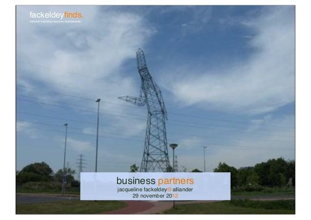 Lezing over business partnerschap en klantgericht samenwerken bij Alliander_Jacqueline Fackeldey