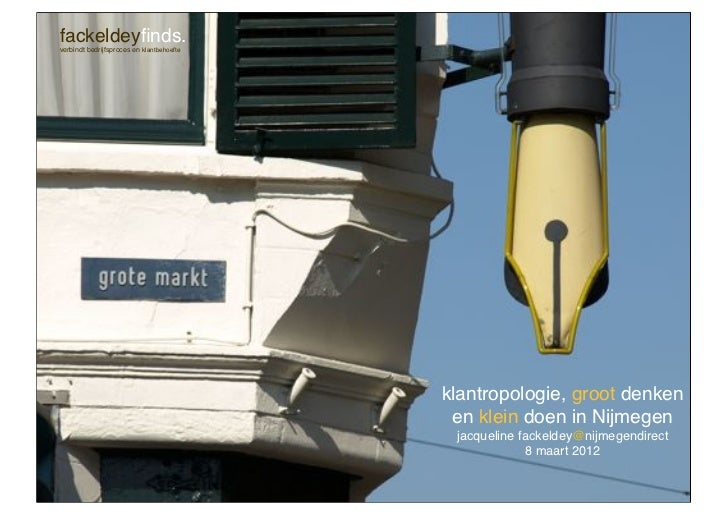 Lezing klantropologie voor Nijmegen Direct