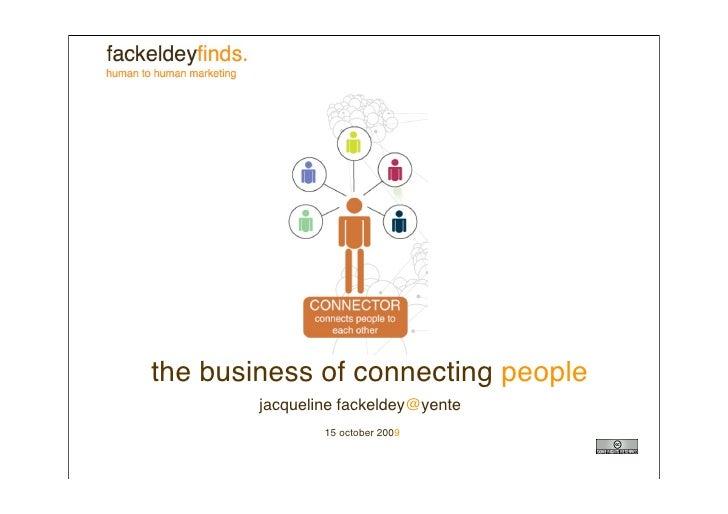 Lezing over social business en social media voor Yente_Jacqueline Fackeldey