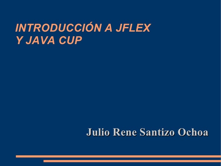 how to use jflex with java