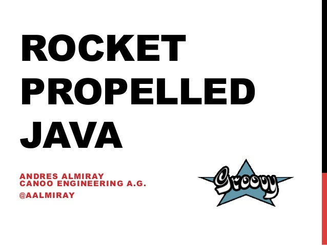 ROCKETPROPELLEDJAVAANDRES ALMIRAYCANOO ENGINEERING A.G.@AALMIRAY