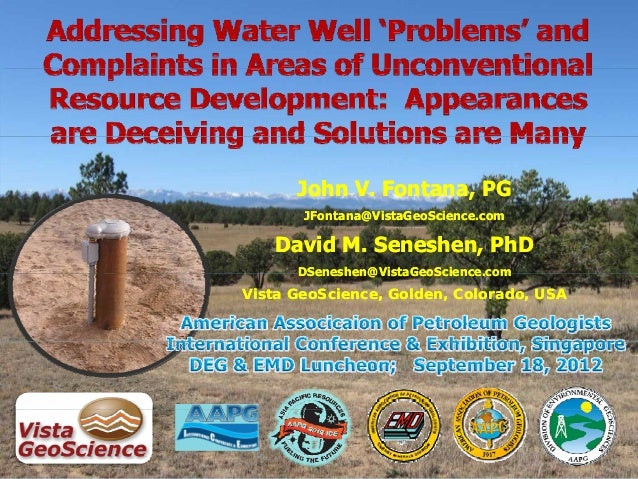 Addressing Water Well 'Problems' and Complaints in Areas of Unconventional Resource Development