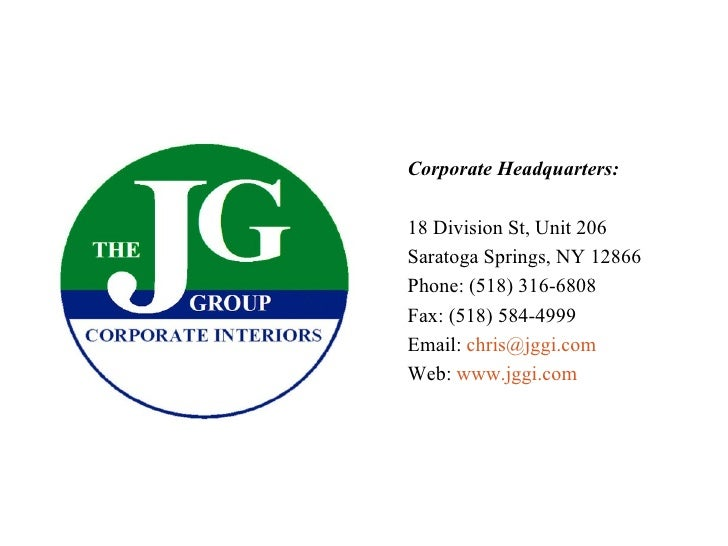 Corporate Headquarters: 18 Division St, Unit 206 Saratoga Springs, NY 12866 Phone: (518) 316-6808 Fax: (518) 584-4999 Emai...