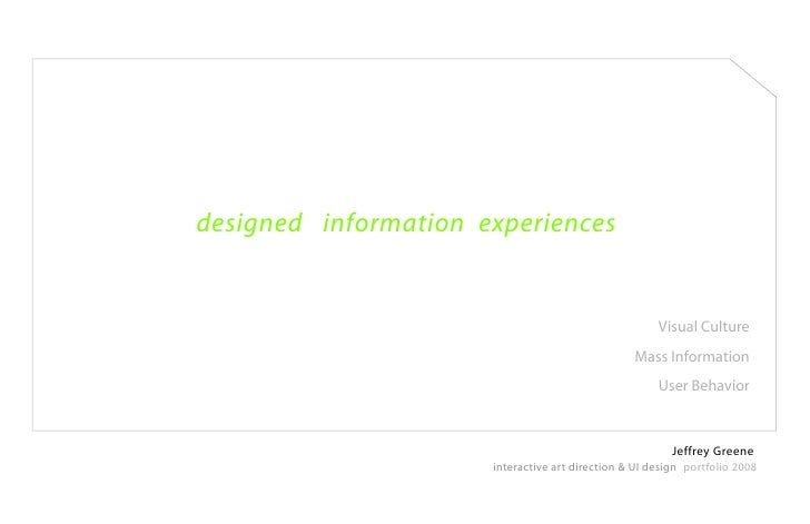 designed information experiences                                                         Visual Culture                   ...