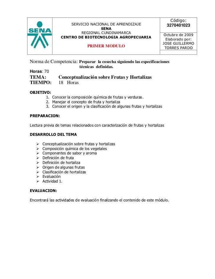 JGTP. Primer Módulo Postcosecha