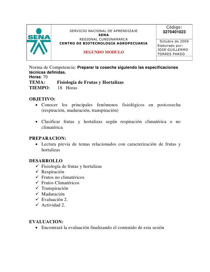 Código:                   SERVICIO NACIONAL DE APRENDIZAJE                3270401023                                 SENA ...