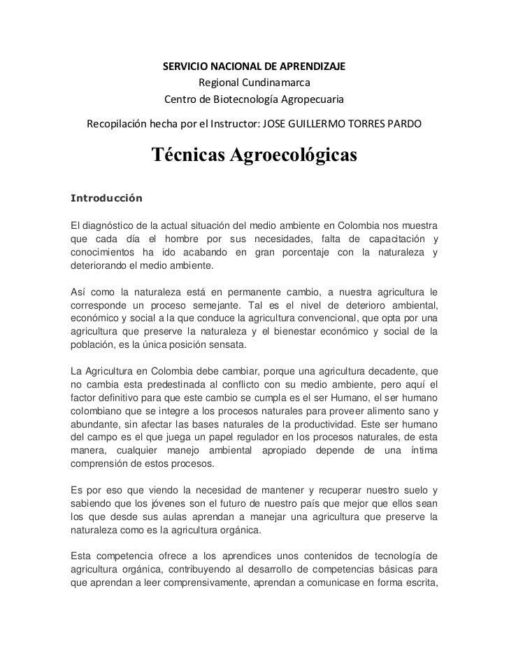 SERVICIO NACIONAL DE APRENDIZAJE                           Regional Cundinamarca                    Centro de Biotecnologí...