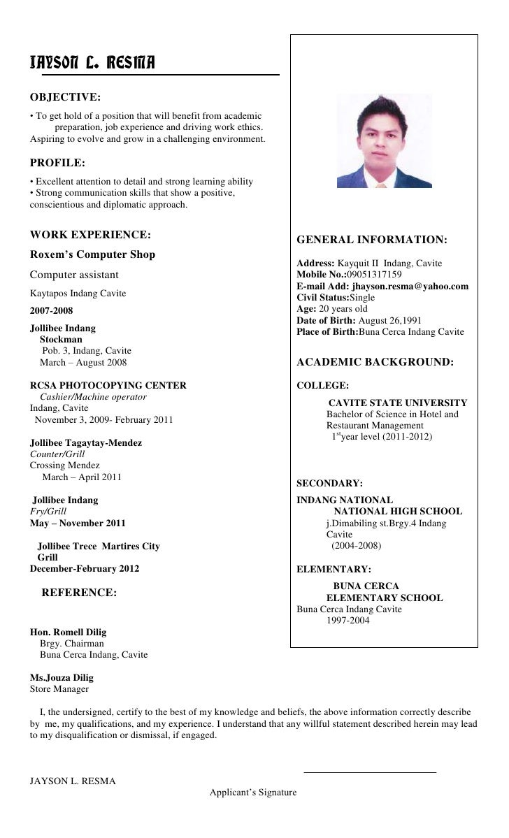 I want to post my resume online