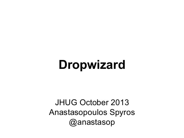 Jhug oct13-dropwizard