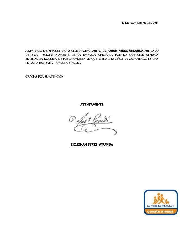 Modelo De Carta De Recomendacion Profesional - newhairstylesformen2014 ...