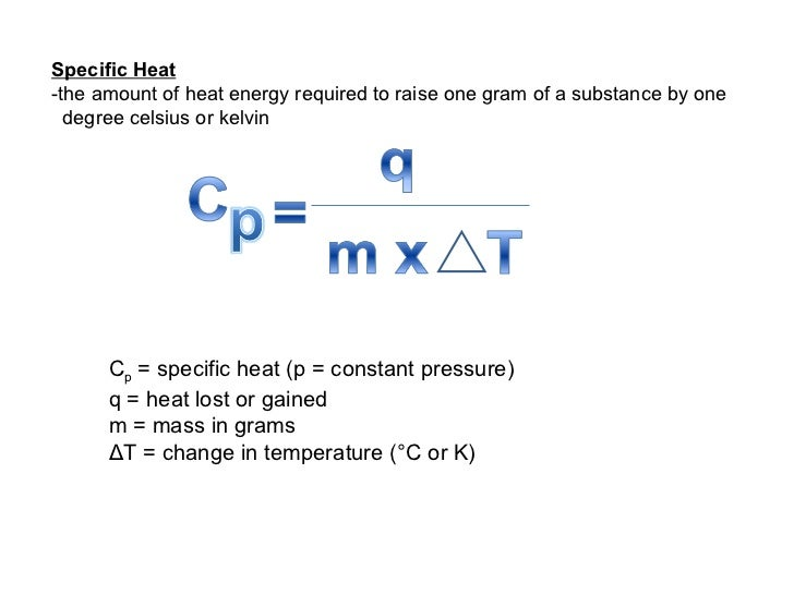 Specific Heat Chart Chemistry Chemistry- JIB ...