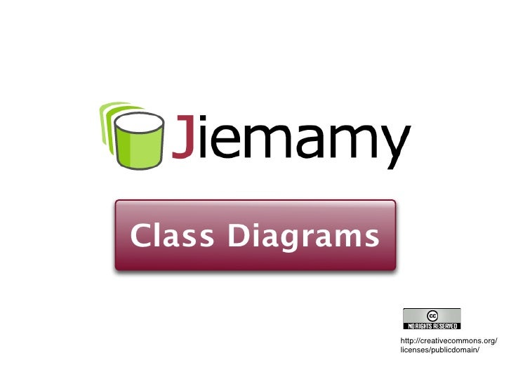 Class Diagrams                    http://creativecommons.org/                  licenses/publicdomain/