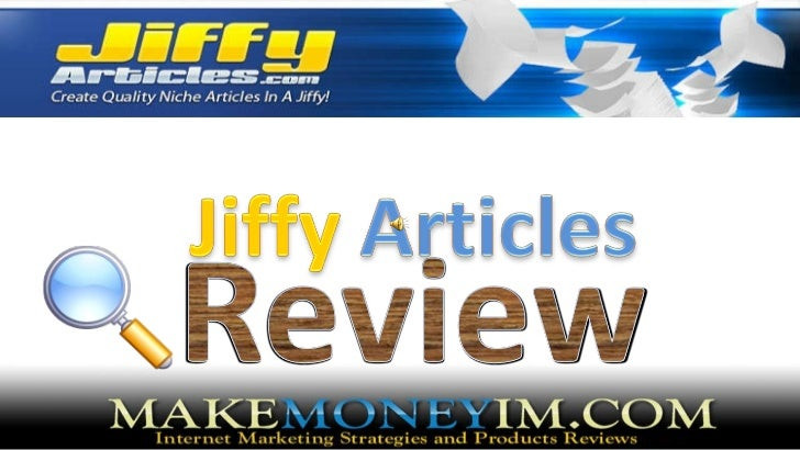 Jiffy articles Review : Write unique content in minutes using Jiffy Articles