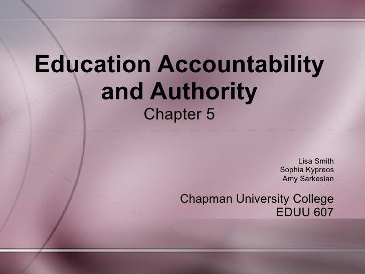 Jigsaw - Group C Education Accountability and Authority