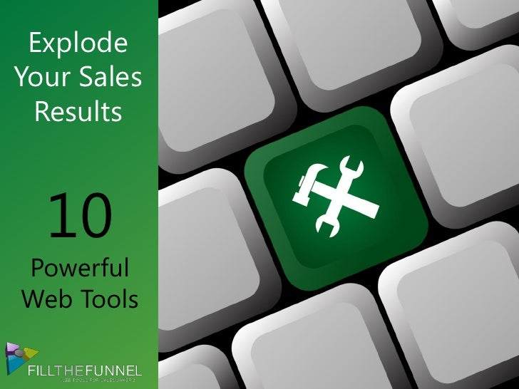 ExplodeYour Sales Results  10PowerfulWeb Tools