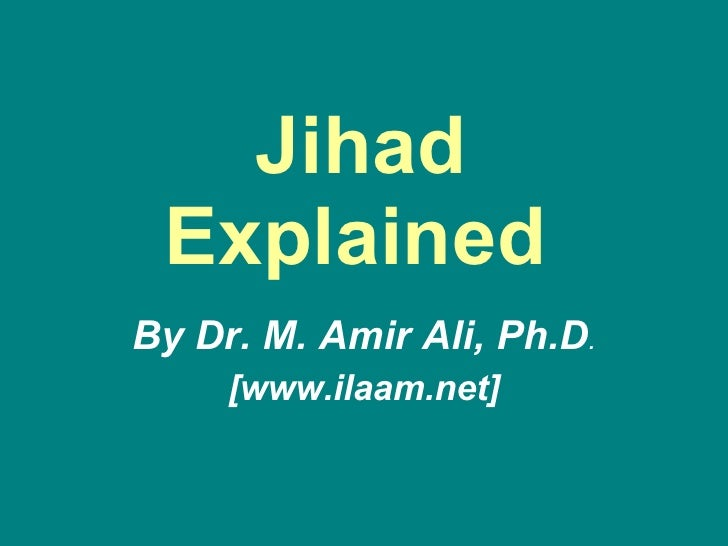 Jihad Explained