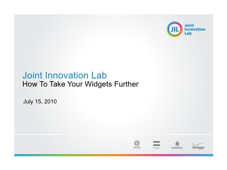 Joint Innovation Lab How To Take Your Widgets Further