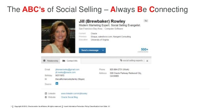 Social Selling - The ABC's of Social Selling: Always Be Connecting - Jill Rowley