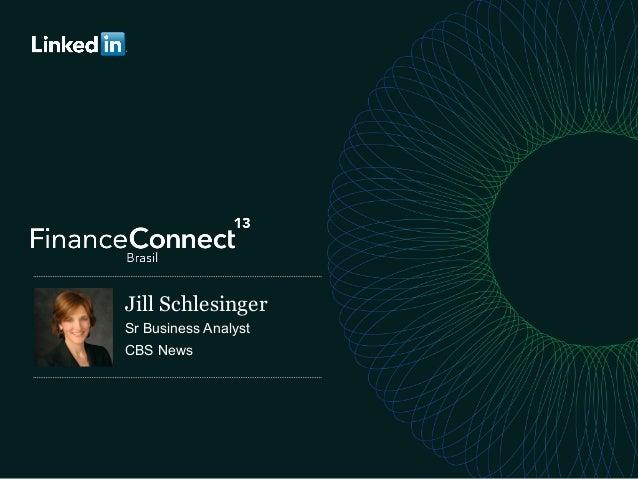 JillonMoney.com Jill Schlesinger Sr Business Analyst CBS News
