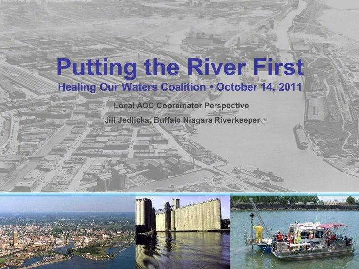 Local AOC Coordinator Perspective  Jill Jedlicka, Buffalo Niagara Riverkeeper
