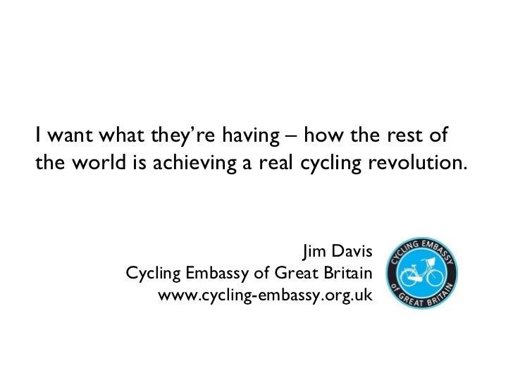 Movement for Liveable London Street Talks - Jim Davis 12th April 2011
