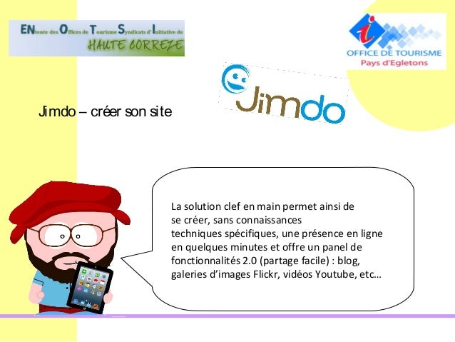 Jimdo – créer son site                     La solution clef en main permet ainsi de                     se créer, sans con...