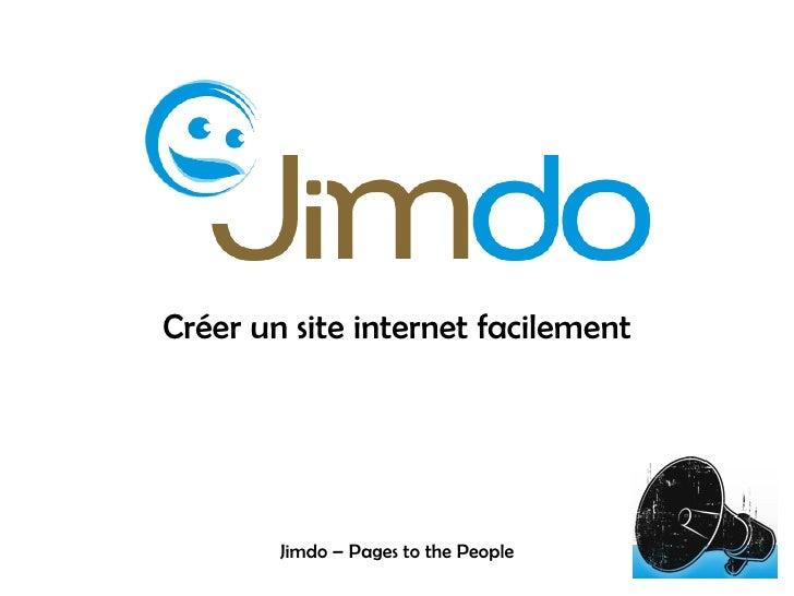 Créer un site internet facilement Jimdo – Pages to the People