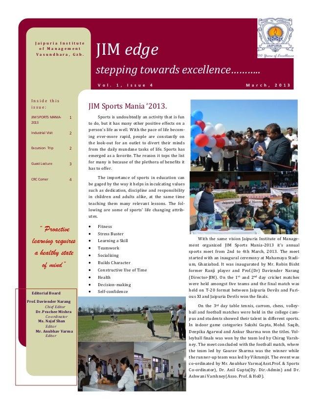 JIM Edge (e-Magazine), Vol. 1, Issue 4 March 2013