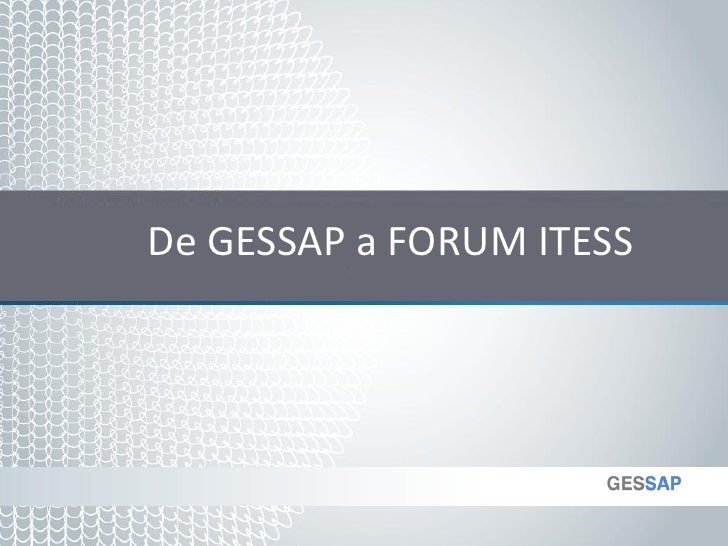 Jimenez, Jordi - De GESSAP a FORUM ITESS